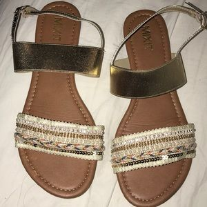 Mixit women's embellished beaded strap sandal sz 8